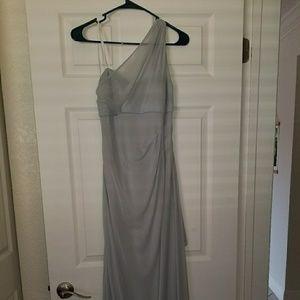 David's Bridal PETITE One Shoulder Dress